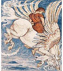Le cheval ailé dans CHEVAL 220px-Pegasus_Walter_Crane1