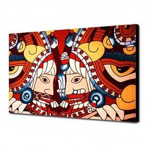 Lièvre, Déesse Ostara dans LAPIN - LIEVRE peint-a-la-main-peinture-a-l-huile-gens-azteques-1211-pe0021_anjiqq1352684183755-300x300