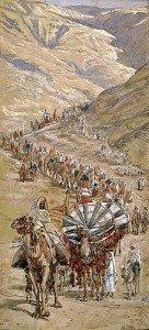 Corbeau Légende   dans CORBEAU 220px-james_tissot_caravan_of_abram_circa_1900-136x300