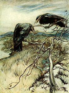 Le corbeau et la colombe dans CORBEAU 220px-the-twa-corbies