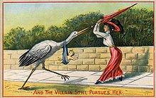 La Cigogne blanche et l'homme dans CIGOGNE 220px-victorianpostcard
